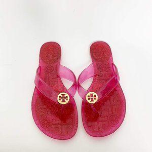 Tory Burch Plastic Jelly Thong Flip Flops Pink 6.5